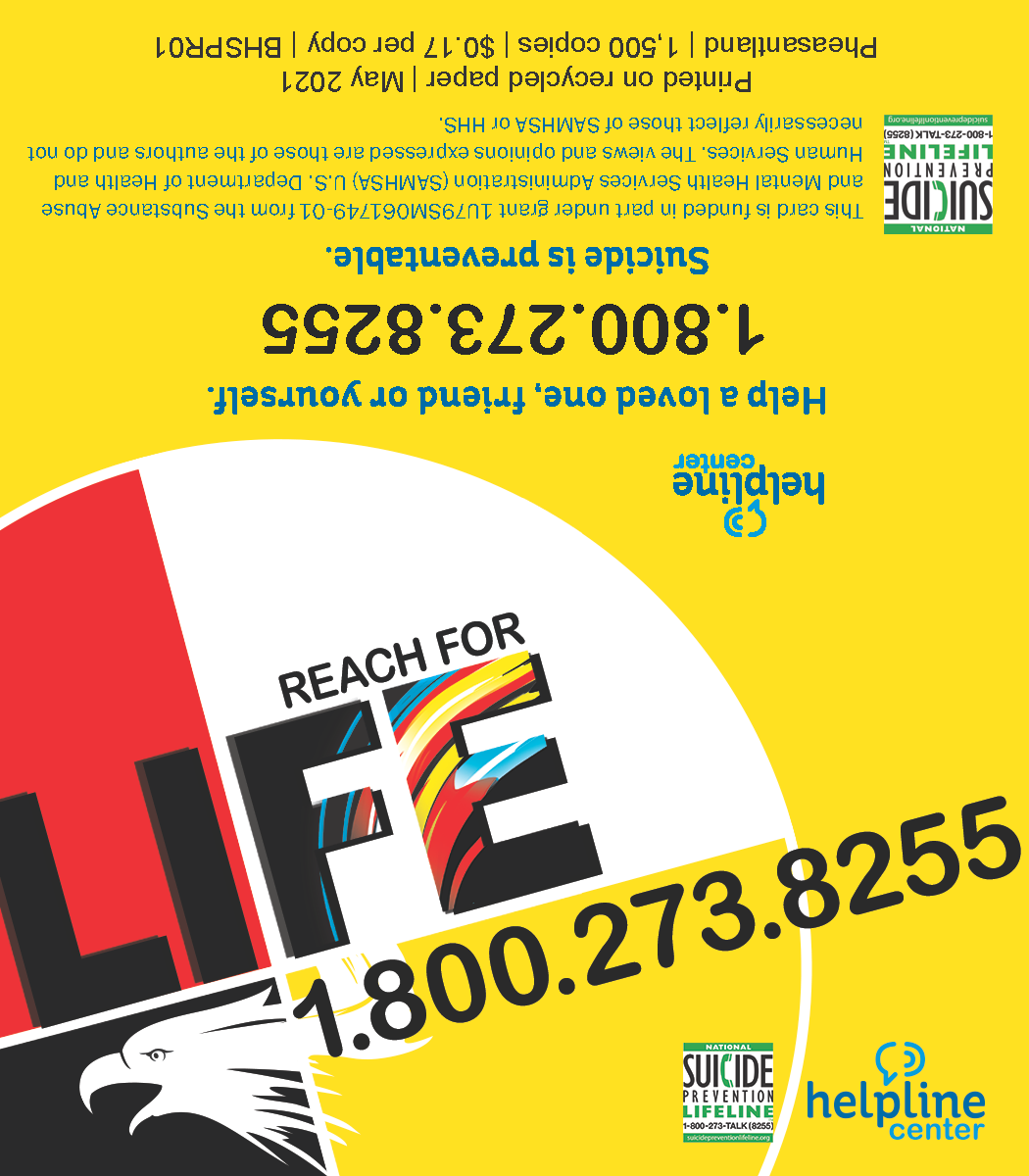 Reach for Life Referral Card